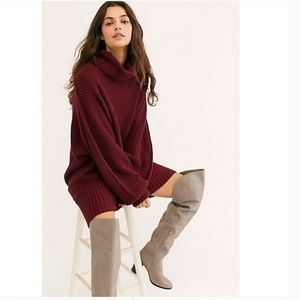 Free People  Turtleneck Sweater Tunic Dress